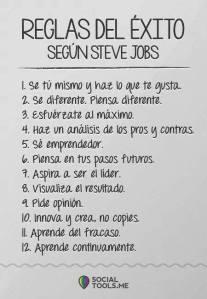 Reglas de exito - STEVE JOBS