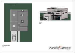 Proyecto1 - Plano - A100 - Planta Planimetria y Vista 3D